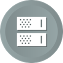 storage, rack, Database, Center, Data, Server, Hosting LightSlateGray icon