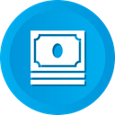 Money, Cash, stack, earnings, Dollar, profit, savings DeepSkyBlue icon