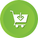 download, store, Cart, commerce, shopping, ecommerce, Shop YellowGreen icon