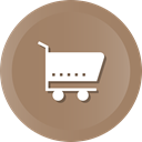 Cart, commerce, shopping, ecommerce, trolley, Shop, Supermarket Gray icon