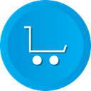 store, Cart, commerce, shopping, ecommerce, means DeepSkyBlue icon