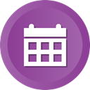 Calendar, date, event, Schedule, Month DarkOrchid icon