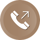 Mobile, phone, Call, outgoing Gray icon