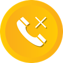 miss, sharps, Call, telephone, Communication, Smart, Dial Orange icon