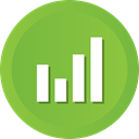 graph, pie, Business, revenue YellowGreen icon
