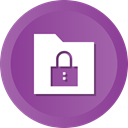 locked, secure, security, Folder, group, Data, collection DarkOrchid icon