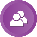 Users, group, people, user, team, men, Collaboration DarkOrchid icon