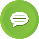 Comment, Chat, talk, Bubble, speech YellowGreen icon