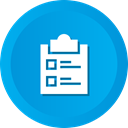 Verification, report, Tasks, checking, Business, Clipboard, list DeepSkyBlue icon