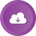 Downloading, save, download, Cloud, Data, storage DarkOrchid icon