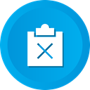 paste, Copy, delete, remove, Minus, Clipboard DeepSkyBlue icon