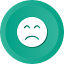 sad, Frown, upset, Depression LightSeaGreen icon