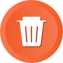 Empty, delete, remove, Trash, recycle, recycling, Dustbin Tomato icon