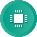 Cpu, electronic, sys, Computer, microchip, processor LightSeaGreen icon
