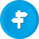sign, navigation, location, Direction, Crossroads DeepSkyBlue icon