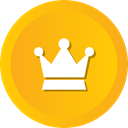Premium, optimization, Princes, Service, crown, winner, royal Orange icon