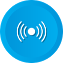 Connection, signal, Wifi, Fi, Communication, reception, wi DeepSkyBlue icon