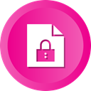 secure, File, security, document, locked, Lock, protect DeepPink icon