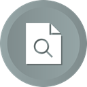 search, contract, document, paper, File LightSlateGray icon