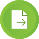 document, File, send, contract YellowGreen icon