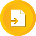 paper, File, send, contract, document Orange icon