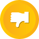 vote, Dislike, thumbs, Down, thumb Orange icon