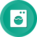 Front, machine, electronic, washing, washer LightSeaGreen icon