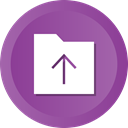 Folder, Arrows, Arrow, Up, upload, uploading DarkOrchid icon