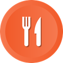 meanns, Fork, food, Knife, Restaurant, kitchen Tomato icon