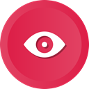 watch, Eye, Views, view, enable Crimson icon