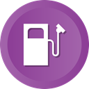 Gas, fuel, station, filling DarkOrchid icon