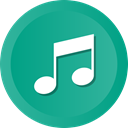 Multimedia, music, player, Note, eighth LightSeaGreen icon