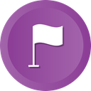 marker, editor, flag, notification, pin, Country, Nation DarkOrchid icon