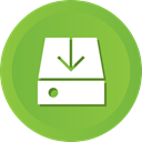 Hard, drive, Data, storage, Hdd, download YellowGreen icon