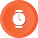 time, watch, Device, electronic, hipster, minutes Tomato icon