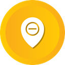 location, pin, Direction, remove, Map, Gps Orange icon