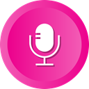 speak, Microphone, radio, mic, recording DeepPink icon