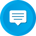 chatting, inbox, Bubble, Conversation, Message, Comment, Chat DeepSkyBlue icon