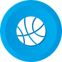 Football, sports, Game, Ball, Basketball DeepSkyBlue icon