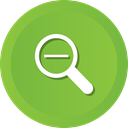 magnifying, out, Magnifier, detective, search, zoom, glass YellowGreen icon