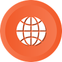 earth, global, globe, internet, world, Map Tomato icon