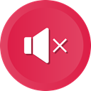 Mute, speaker, volume, Audio, music, sound, player Crimson icon