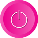 restart, on, off, Energy, switch, power, disable DeepPink icon