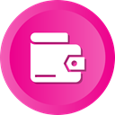 wallet, Finance, Money, Shop, Saving, Billfold DeepPink icon