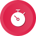 time, measure, stopwatch, timer, speed, timepiece Crimson icon