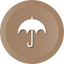 Umbrella, Safe, safety, Protection, insurance, rn Gray icon