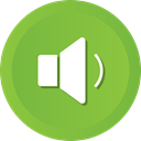 music, sound, speaker, volume, on, high, Loud YellowGreen icon