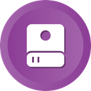 Hdd, Disk, Data, storage, Hard DarkOrchid icon