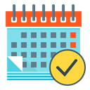 Calendar, event, plan, planning, financial, financial planning SkyBlue icon