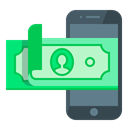 Mobile, smartphone, M-banking, mobile banking, replenishment Black icon